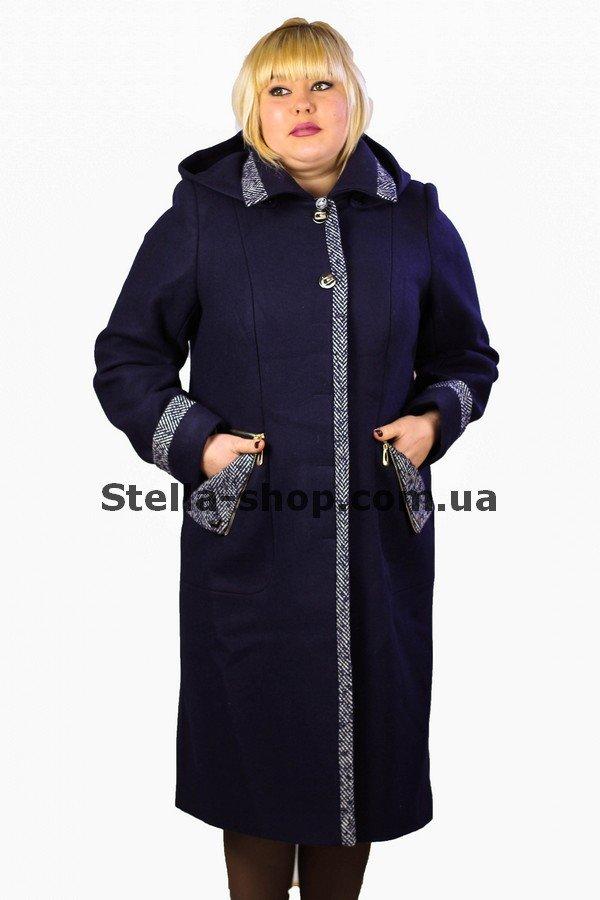 Пальто зимнее большие размеры. Кашемир. Синее. Mangust. 2135 купить в по  цене 2 800 грн. 68db442d994b0