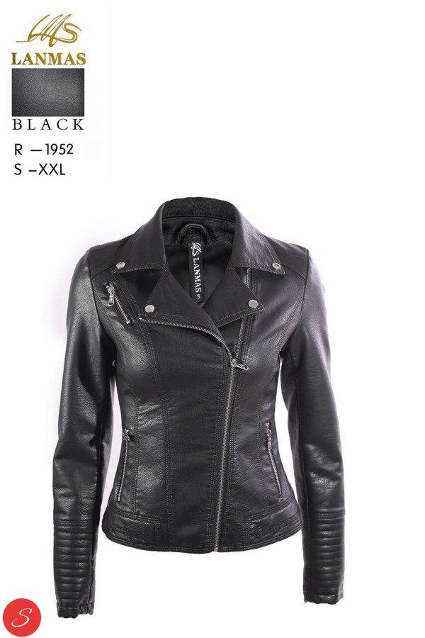 7fa16e8eb2f Купить Куртка кожзам черная косуха. Lanmas 1952 по цене от 950 грн.