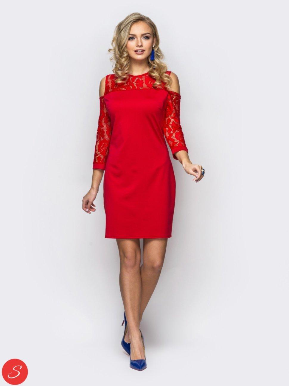 3acc5d1b80c Купить Однотонное вечернее платье. Гипюр рукава. 65560 по цене от ...