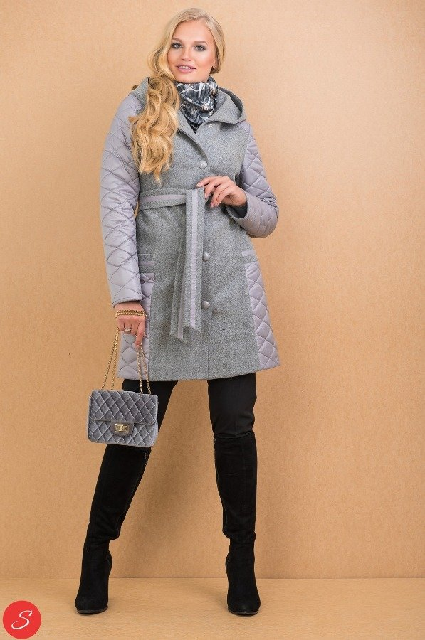 a6236d78de2 Купить Комбинированное пальто кашемир-болонья. Granis. 112 по цене от 1 800  грн.