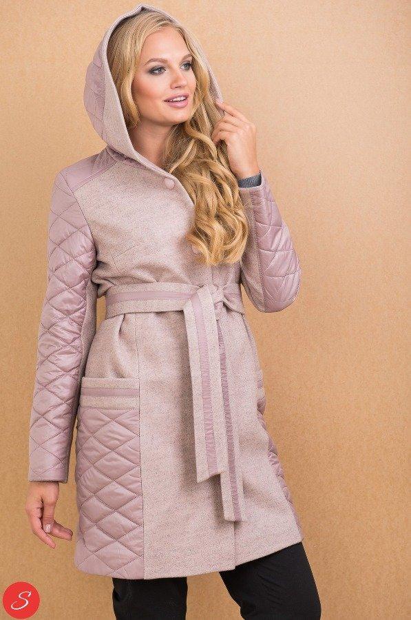 2aac88a069c0 Комбинированное пальто кашемир-болонья. Granis. 112