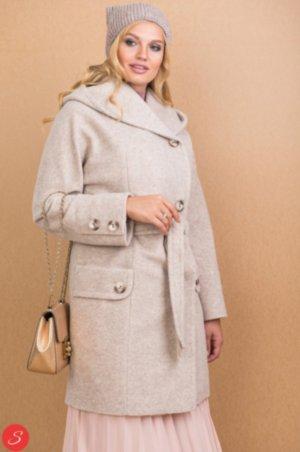 d41ae2ef4a5 Комбинированное пальто средней длины. Буклированное пальто. Granis. 116