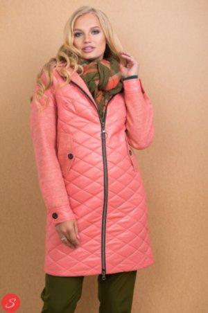 55e15ea4a9c Кашемировое пальто с поясом средней длины. Пальто из болоньи с кашемировыми  рукавами. Granis. 113