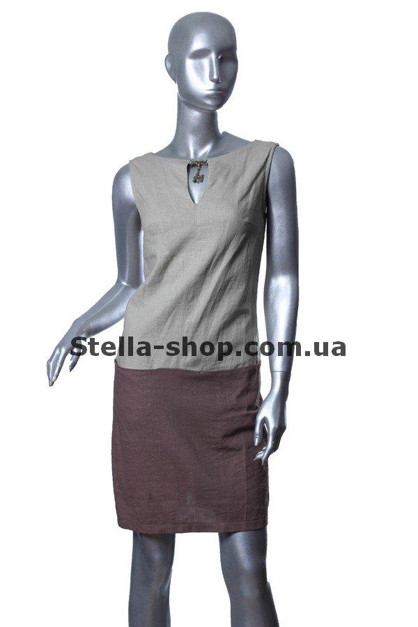 8e0a3bbbf5f Купить Платье лен комбинированное натуральный по цене от 500 грн.